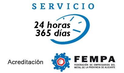 servicio 24 horas en Alicante